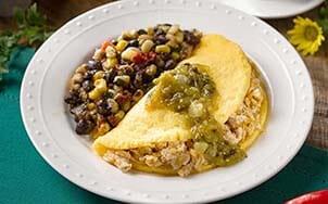 southwestern-smoked-chicken-omelet