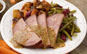 sliced-ham-with-mustard-maple-sauce
