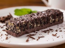 Chocolate Mint Crispy Bar