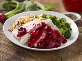 Turkey Breast with Cranberry Chutney and Wild Rice Blend