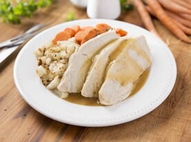 Turkey Breast with Gravy and Cauliflower