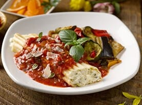 Manicotti with Vodka Marinara Sauce