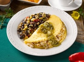 Southwestern Style Smoked Chicken Omelet