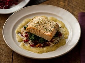 Grilled Salmon with Lemon Dijon Dressing