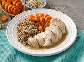 Chicken Cordon Bleu with Roasted Garlic Veloute