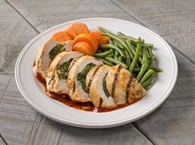 Spinach and Feta Stuffed Chicken with Pomodoro