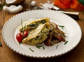 Mediterranean Chicken Crepe