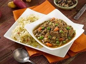 Irish Beef Stew with Sauteed Cabbage