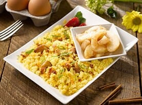 Bacon and Potato Egg Scramble
