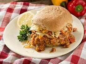 Sloppy Joe with Cabbage Slaw