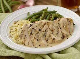 Chicken with Lemon Peppercorn Sauce