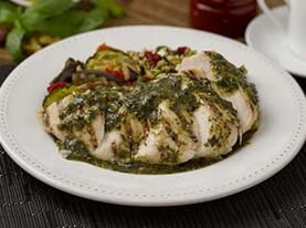 Grilled Chicken Pesto with Farro Salad