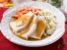 Turkey Breast with Herbed Brown Gravy