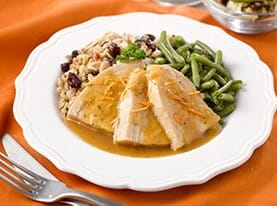 Turkey Breast with Honey Orange Glaze