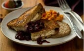 Stuffed French Toast with Berries and Sweet Potatoes